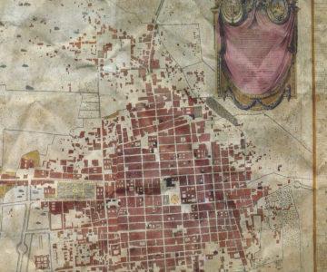 crumpled map